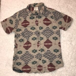 On the byas pacsun short sleeve button up